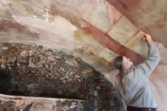 Reštaurovanie fresky v Božom hrobe