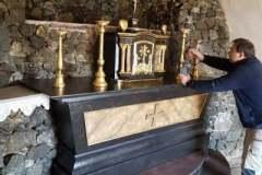 Skúška nového oltáru.