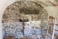 Čelná stena Kaplnky Božieho hrobu