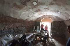 Práce v interiéri kaplnky Božieho hrobu