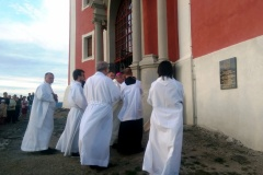 Požehnanie pamätnej tabule biskupovi Mons. Michalovi Buzalkovi