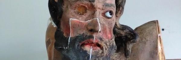 Reštaurovanie sochy Ukrižovaného Krista a 2 lotrov