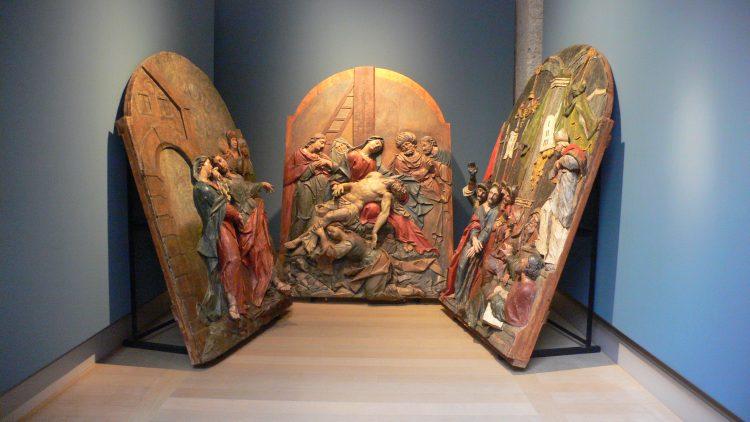 Reliéfy kalvárie v Miláne