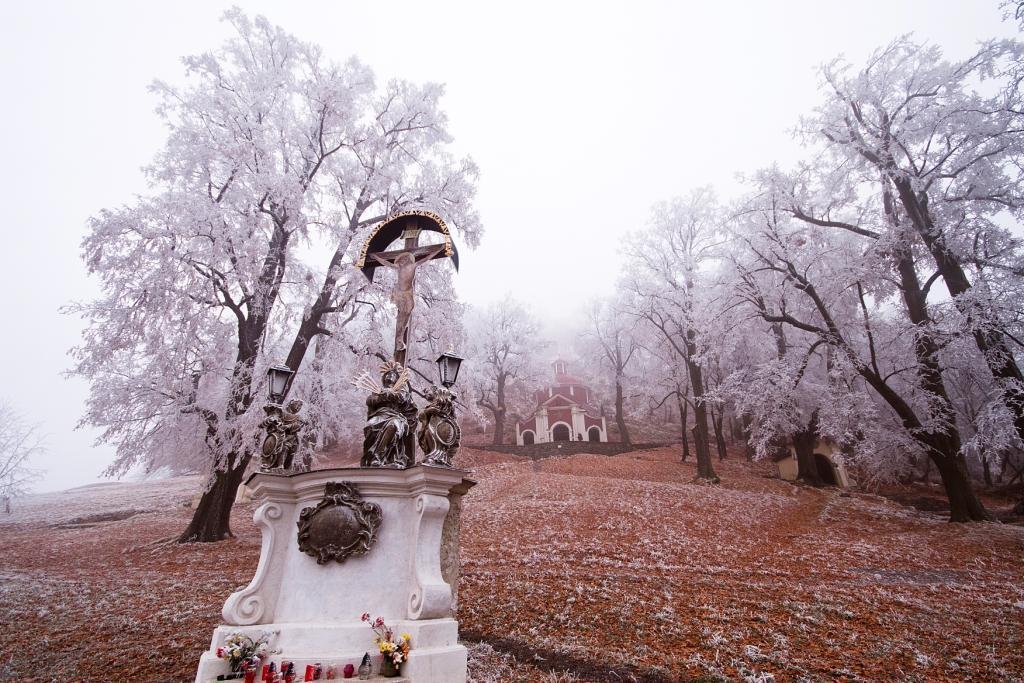 Kalvária Banská Štiavnica v zime